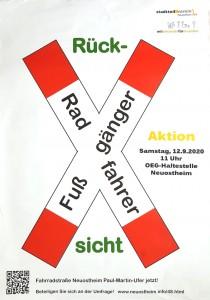 Plakat Rücksicht Radfahrer-Fußgänger